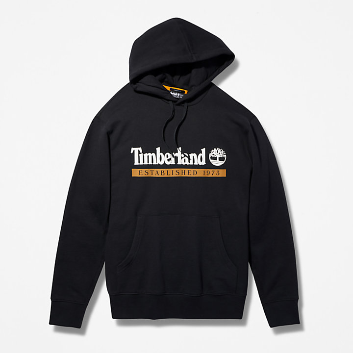 1973 Hooded Sweatshirt for Men in Black-