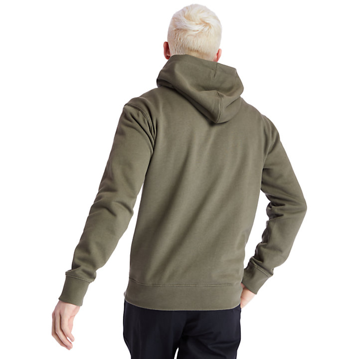 1973 Hooded Sweatshirt for Men in Green-
