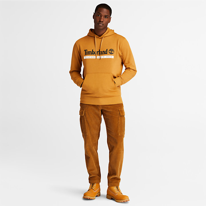 1973 Hooded Sweatshirt for Men in Yellow-