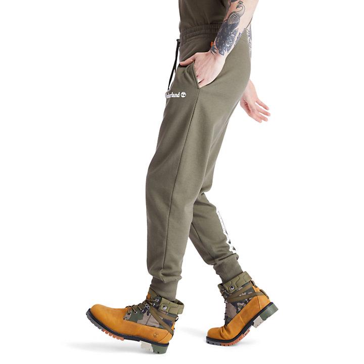 Pantaloni Sportivi da Uomo Established 1973 in verde-