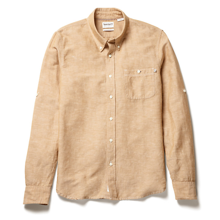 Mill River Shirt for Men in Yellow-