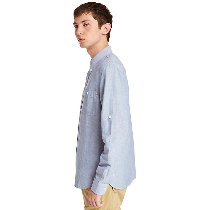 Mill River Shirt for Men in Blue-