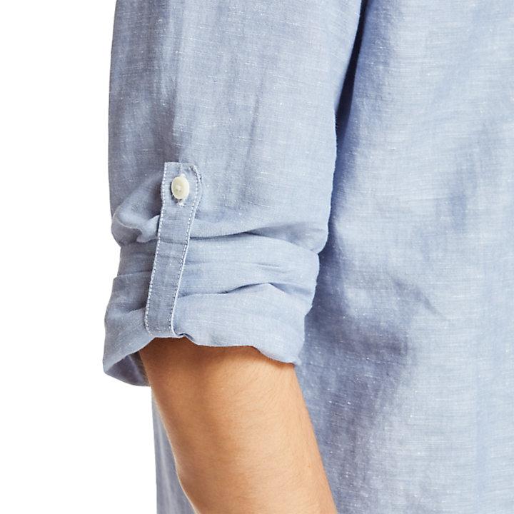 Camisa Mill River para Hombre en azul-