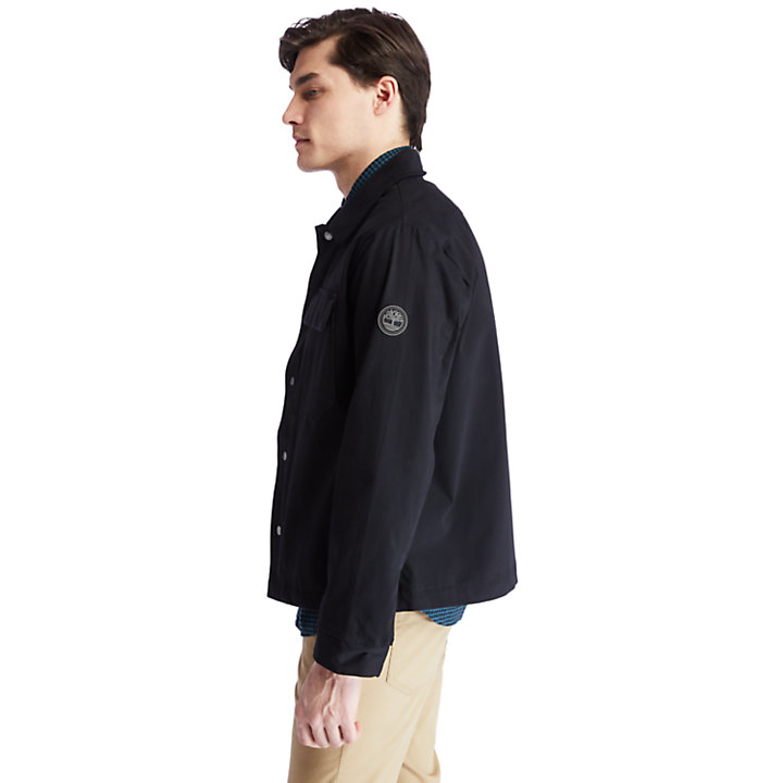 Nacoma River Overshirt for Men in Black-