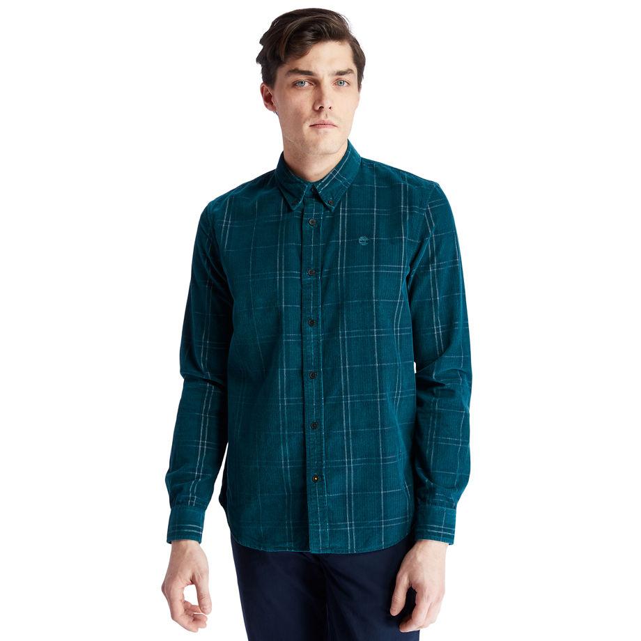 Timberland Moosilauke Brook Check Shirt For Men In Green Green, Size XXL