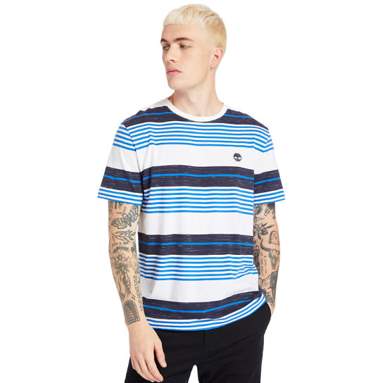 Wild Ammonoosuc River Striped T-Shirt for Men in Blue | Timberland