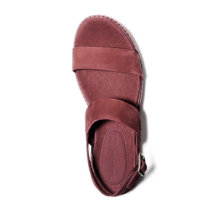 Safari Dawn Sandal for Women in Burgundy-