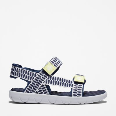Perkins+Row+Webbing+Sandal+for+Youth+in+Navy