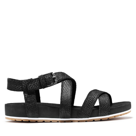 Malibu Waves Ankle Strap Sandal for Women in Monochrome Black | Timberland
