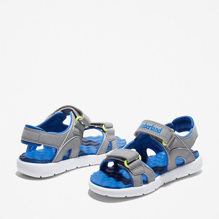Perkins Row 2-Strap Sandal for Youth in Grey-