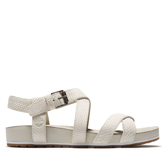 Malibu Waves Ankle Strap Sandal for Women in White | Timberland