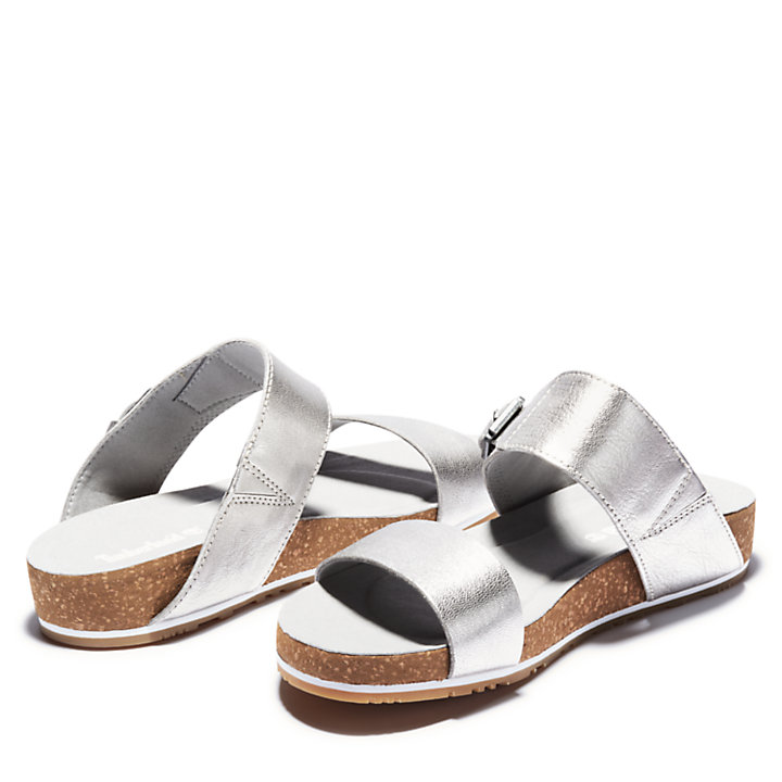 Malibu Waves 2-Band Sandal for Women in Silver-