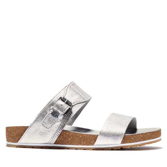 Malibu Waves 2-Band Sandal for Women in Silver | Timberland