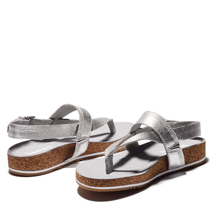 Malibu Waves Teensandaal voor Dames in zilver-