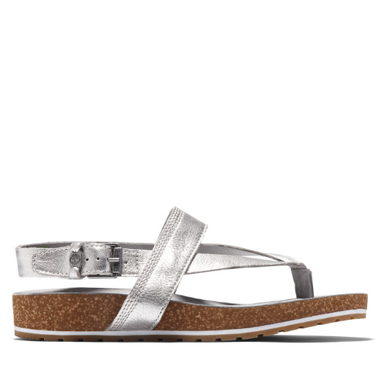 Malibu Waves Toe Post Sandal for Women in Silver | Timberland
