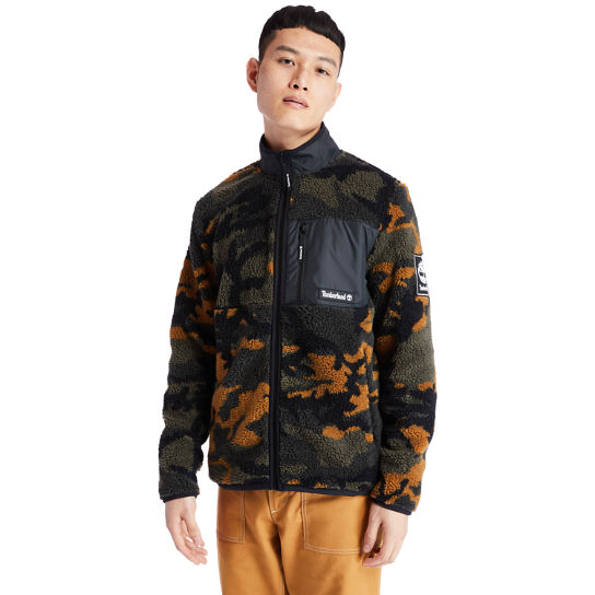 Camo Recycled Fleece Jacket for Men in Green | Timberland