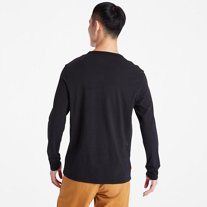 Camo Recycled Fleece Jacket for Men in Black-