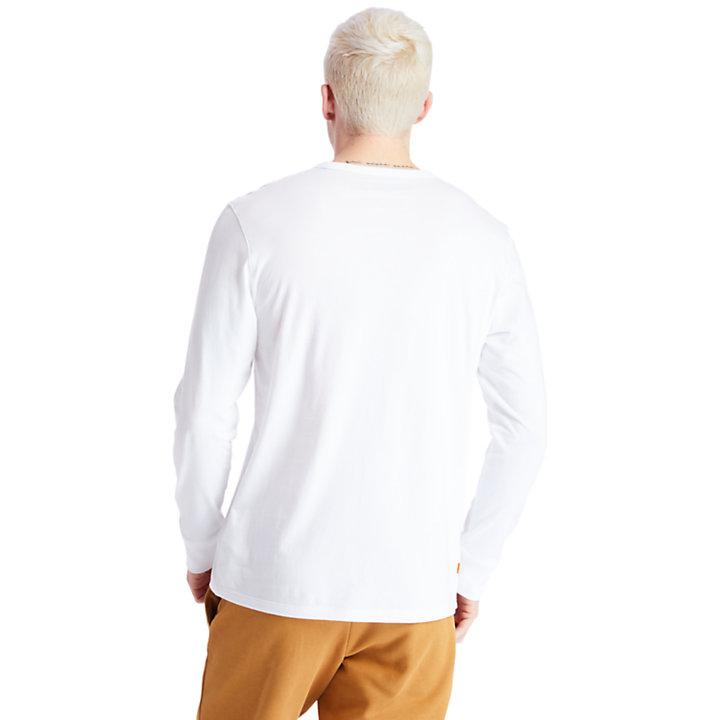 Camo Recycled Fleece Jas voor Heren in wit-