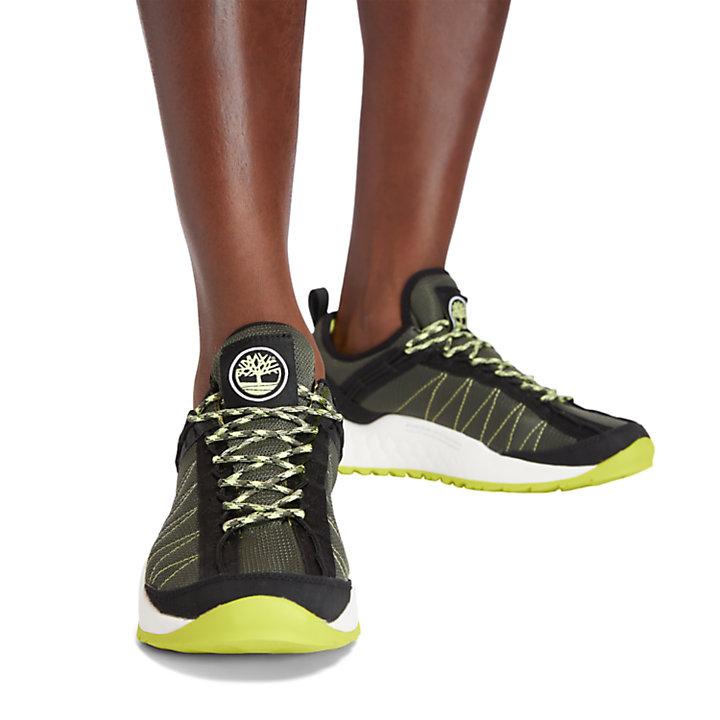 Solar Wave Mesh-Sneaker für Herren in Dunkelgrün-