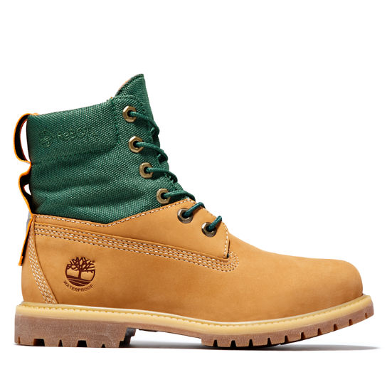 Scarponcino da Donna 6-inch ReBOTL™ Fabric and Leather in giallo | Timberland