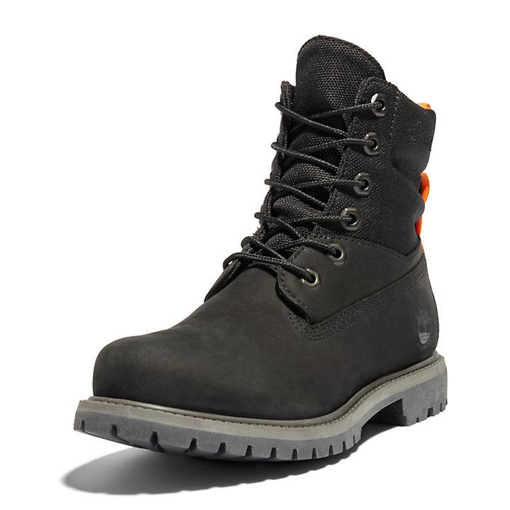6-inch ReBOTL™ Fabric and Leather Boot voor Dames in zwart-