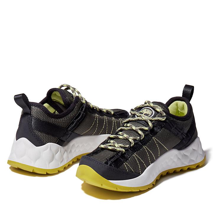 Chaussure de randonnée Solar Wave pour enfant en vert foncé-