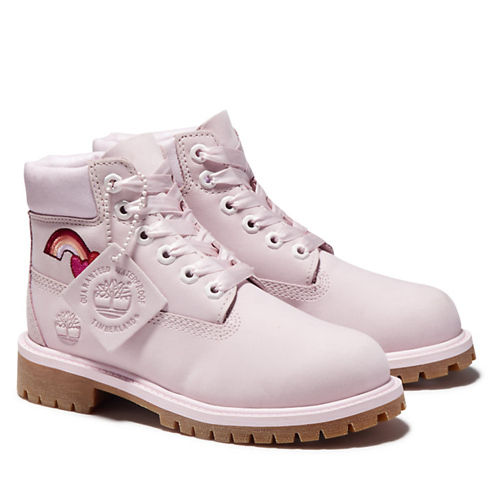 6 Inch Premium Boot for Youth in Light Pink-
