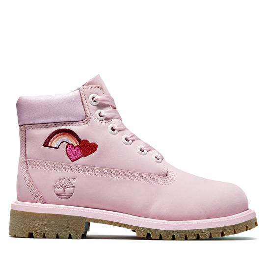 6 Inch Premium Boot for Youth in Light Pink | Timberland