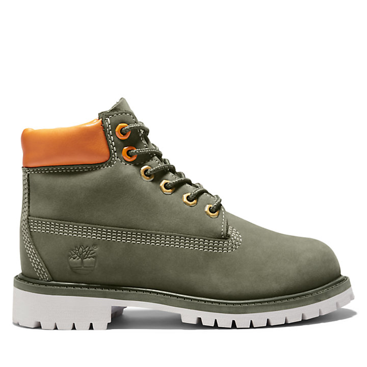 6 Inch Premium Boot for Youth in Dark Green-