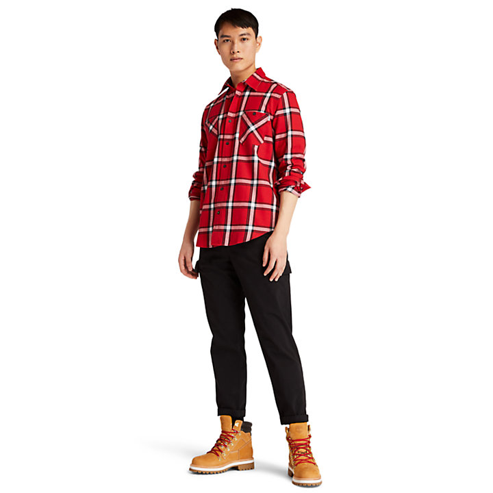 Nashua River Heavy-flannel Checked Shirt for Men in Red-