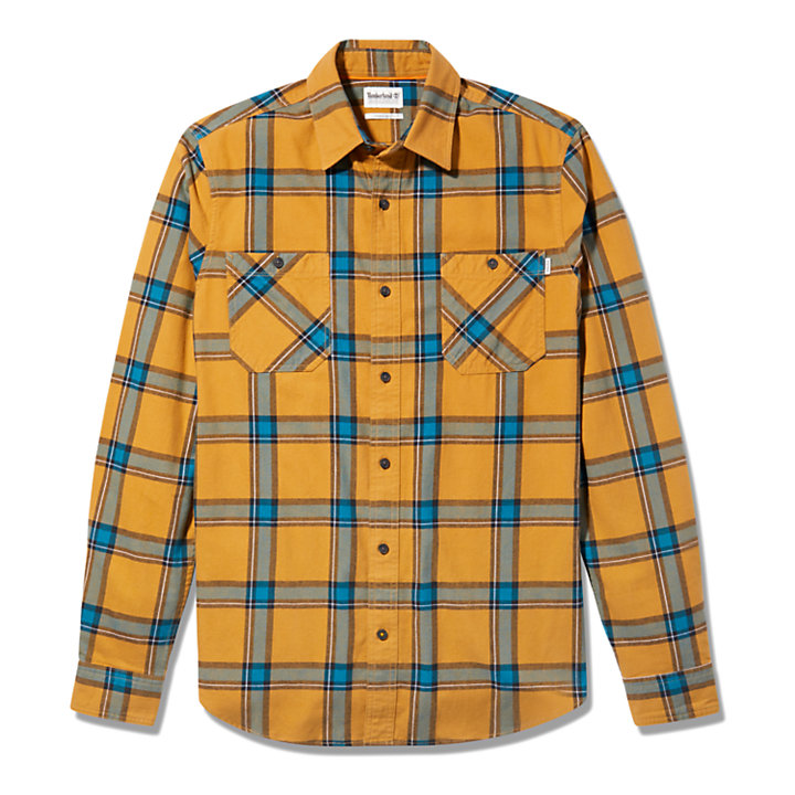 Nashua River Heavy-flannel Checked Shirt for Men in Green-