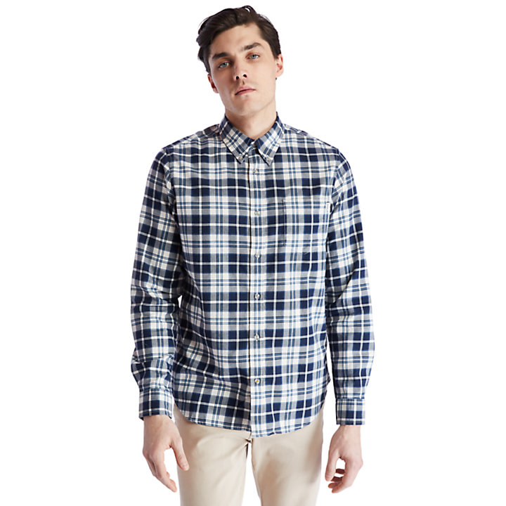 Spicket River Check Shirt for Men in Navy-