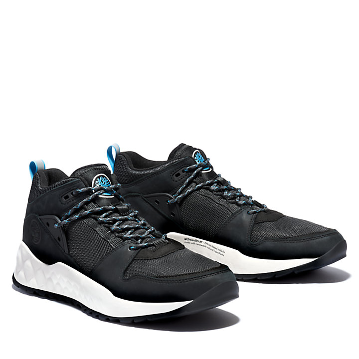 Solar Wave Hiker for Men in Black-