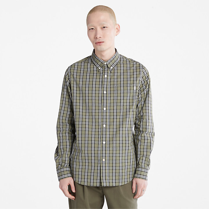 Indian River Check Shirt for Men in Green-