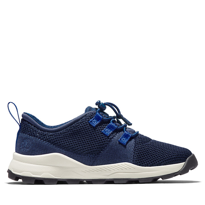 Brooklyn Flexi Knit Oxford for Youth in Navy-