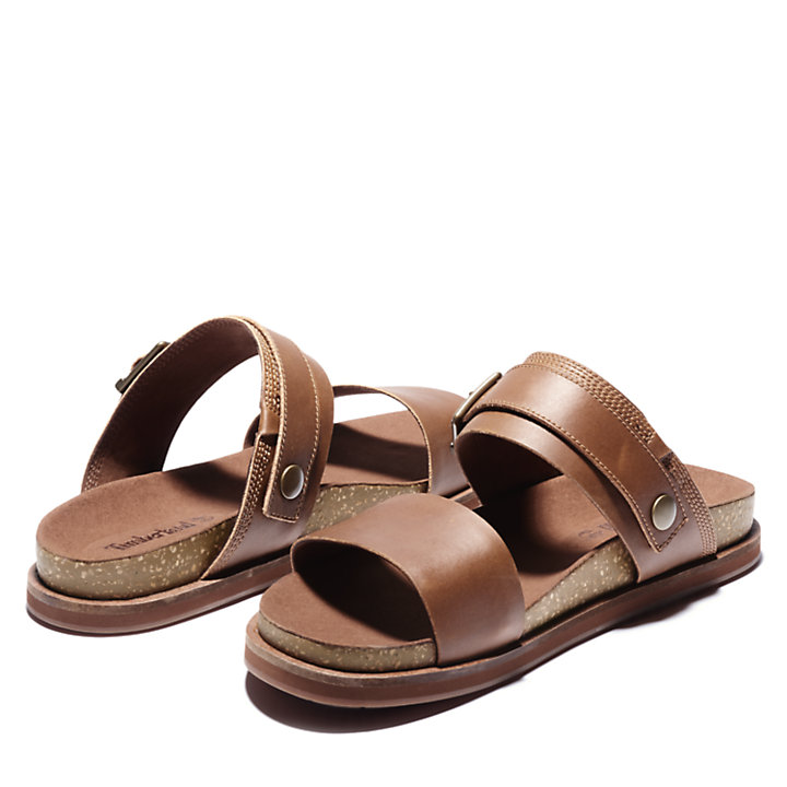 Amalfi Vibes 2 Band Sandal for Men in Brown-