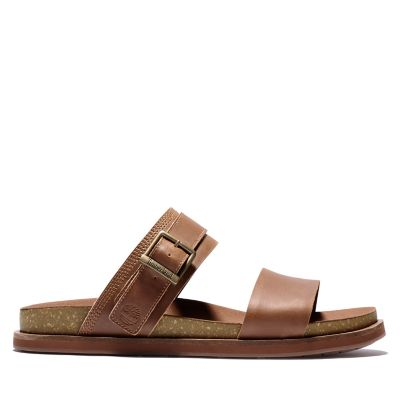 Amalfi+Vibes+2+Band+Sandal+for+Men+in+Brown