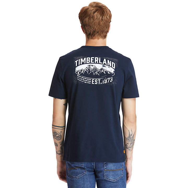 Heritage Mountain T-Shirt for Men in Navy-