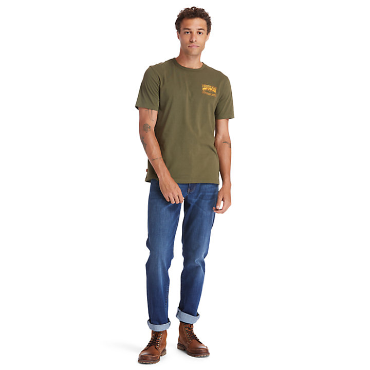 Heritage Mountain T-Shirt for Men in Green-