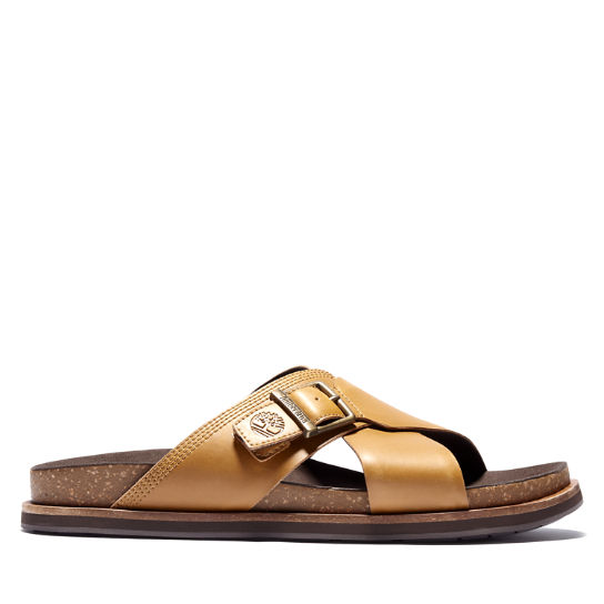 Amalfi Vibes Cross Slide Sandal for Men in Yellow | Timberland