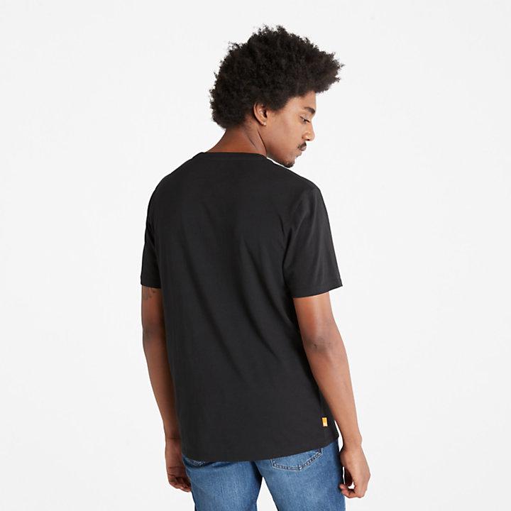 Camiseta con Logotipo del Árbol de Camuflaje para Hombre en color negro-