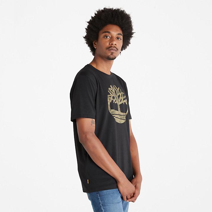 Camo Tree Logo T-Shirt für Herren in Schwarz-