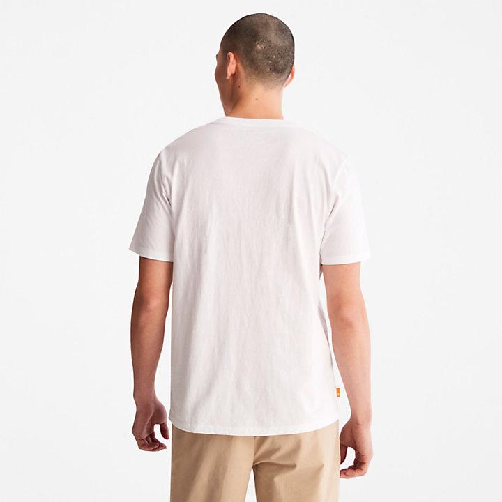Camiseta con Logotipo de Camuflaje para Hombre en blanco-