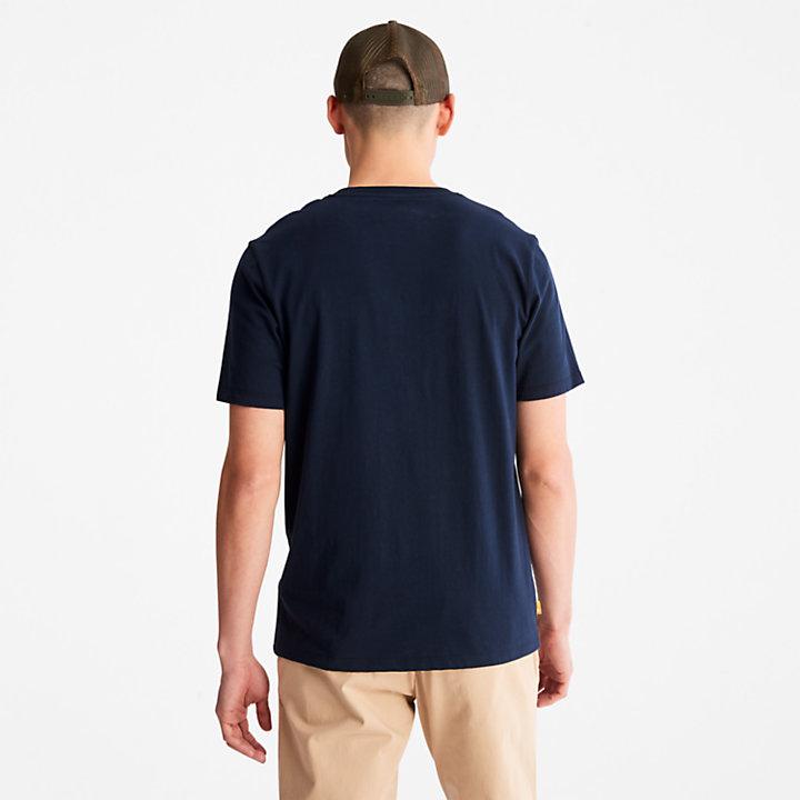 T-shirt camouflage avec logo pour homme en bleu marine-