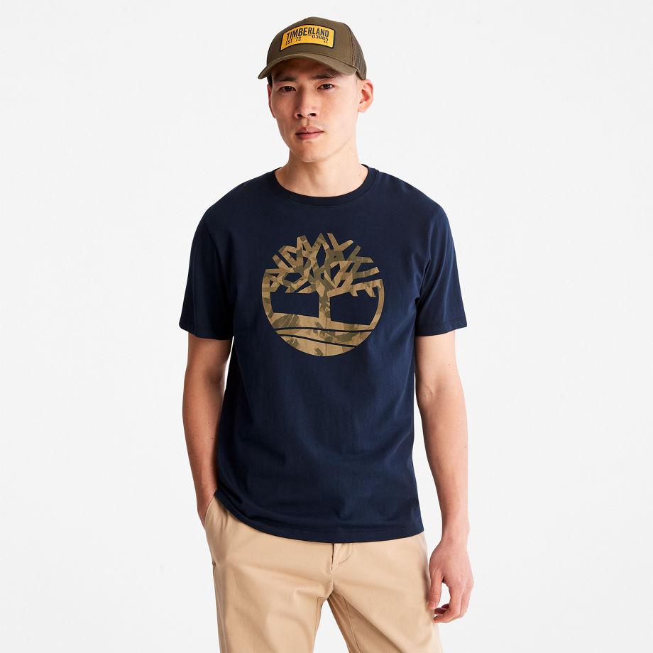 T-shirt Camouflage Avec Logo En Marine Marine, Taille S - Timberland - Modalova