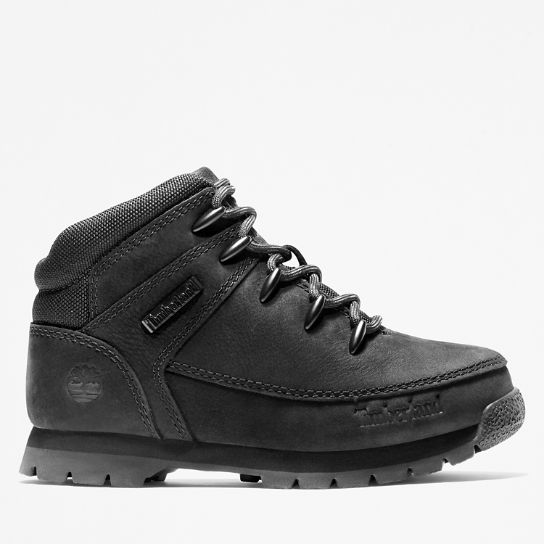 Euro Sprint Mid Hiker for Youth in Black Nubuck | Timberland
