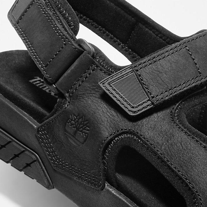 Anchor Watch Sandale mit Fersenriemen für Herren in Schwarz-