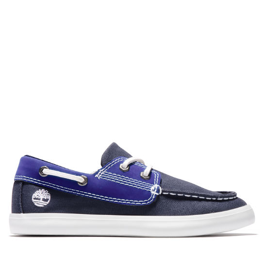 Newport Bay Boat Shoe for Youth in Navy | Timberland