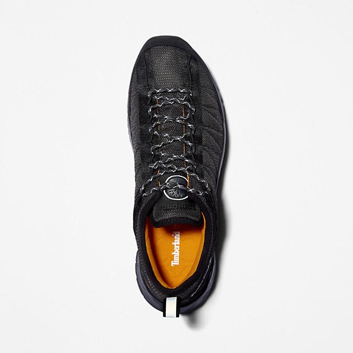 Zapatilla de Malla Solar Wave para Hombre en color negro monocromático-