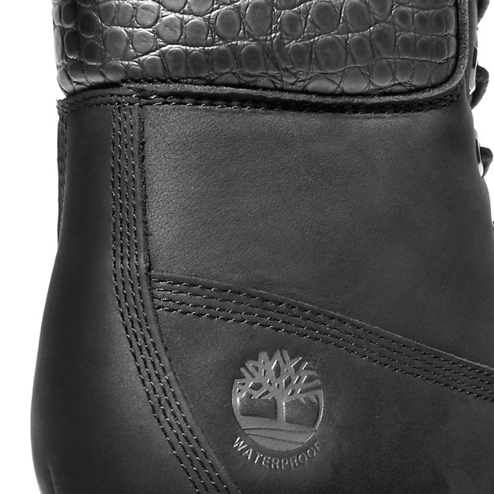 Kinsley 6 Inch Boot for Women in Black Textured-